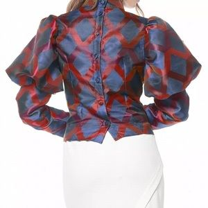 GRACIA puff sleeves top